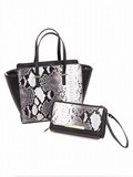 Python Synthetic Leather Parent And Child Bag Tote Wallet