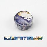 BGM マスキングテープ 「ライフ 猫のおやすみ」 15mm MASKING TAPE/マスキングテープ