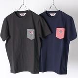 【2017SS新作】ヒッコリー ポケット付 半袖Tシャツ