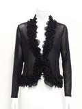 Black Power Net Frill Jacket
