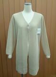 Long Button V-neck Cardigan Long Sleeve