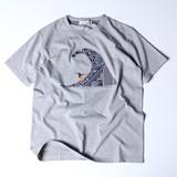 【2017SS新作】波乗り サーファー バンダナ貼付 半袖Tシャツ