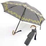 晴雨兼用(折傘)PARISシリーズ(shell刺繍)バンブー手元