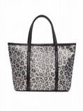 Leopard Jacquard Tote Bag