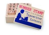 ウッドスタンプ タイプフォント ナンバー