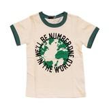 【BE-ZIGY】天竺 シャドーボーダー リンガーネック半袖Tシャツ<即納>