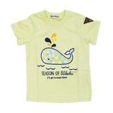 Jersey Stretch Whale Applique Short Sleeve T-shirt