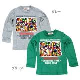 【VICTORY OF ALPHA】天竺 3Dプリント長袖Tシャツ<即納>