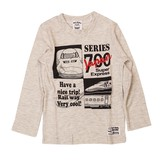 【Sn't kids】JR公認 新幹線プリント長袖Tシャツ<即納>