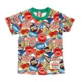 Jersey Stretch Patch Repeating Pattern Short Sleeve T-shirt