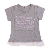 【CHEER GIRL】天竺 裾フリル半袖Tシャツ(100cm〜160cm)<即納>