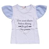 【CHEER GIRL】天竺 フレア袖Tシャツ(100cm〜160cm)<即納>