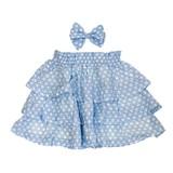 Brooch Attached Chiffon Frill Skirt