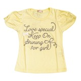 Jersey Stretch Ribbon Pearl Attached T-shirt