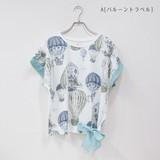 【Web展】*送料無料*【予約販売】(4月納品)[2017SS]ドルマンリボンTシャツ バルーントラベル
