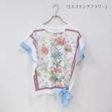 2017 S/S Dolman Ribbon T-shirt Spring Flower