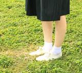 【春夏定番カラバリクルー】日本製・表糸綿100%無地カラバリクルーソックス(抗菌防臭糸使用)