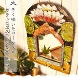 【ゴールドペイント壁掛けロータスミラー】アジアン雑貨