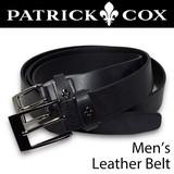 PATRIC COXがこの価格!ベルト メンズ パトリックコックス 百合の紋章デザイン 紳士 ビジネス