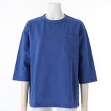 【2017年春夏新作】レディース ポケット使い7分袖Tシャツ<日本製>