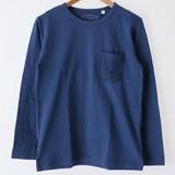 【2017年春夏新作】メンズ ポケット使い長袖Tシャツ<日本製>