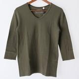 【2017年春夏新作】メンズ Vネック7分袖Tシャツ<日本製>