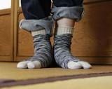 日本製・足袋ソックス 撚り杢