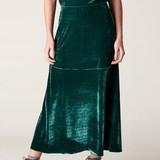 <本日まで!>【Web展】【予約販売】【B.yu】ストレッチベロアロングスカート