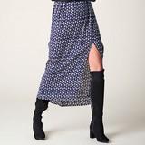 <本日まで!>【Web展】【予約販売】【B.yu】変形ドット柄ロングスカート