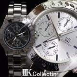 !!在庫処分!![2色]イミテーションクロノグラフデザイン メンズウォッチ 腕時計 時計