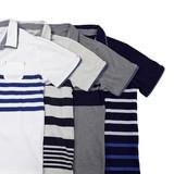 2017 S/S Panel Border Print Attached 2 Pcs Polo Shirt