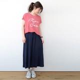【Web展】(4月納品)◇リネンVネックロゴTシャツ◇