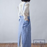Point Reduction S/S Apron Apron Chambray Linen