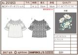【Web展】(4月納品)【2017春夏新作】袖口ギャザーオフショル(レース)