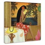 【アートデリ】HILO KUMEの壁掛けアート インテリア 雑貨 アート ハワイ アロハ hrk-0003