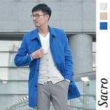 <春物新作>Sacro ストレッチ ステンカラー コート / メンズ 春コート サークロ