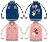 <先行予約>【雑誌ニコラ掲載予定】Anjereta 花柄刺繍スカジャン/140cm〜160cm/