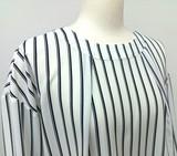 Spring Items Stretch Drop Shoulder Stripe Blouse