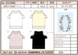 【Web展】(4月納品)【2017春夏新作】肩開きお花刺繍Tシャツ