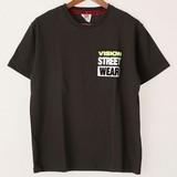 【2017年SS新作】蛍光チェーンステッチ刺繍ポケット半袖Tシャツ