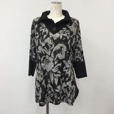 Spring Floral Pattern Tunic