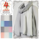 Stole S/S Natural Material Stole Color Border