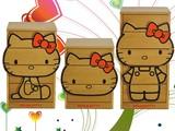 【ネット販売不可】【送料無料】ダイカットチェストハローキティ 木目タイプ