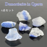 6点セット デュモルチェライトinクォーツ 原石 パワーストーン 天然石【FOREST】