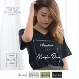 ◆2017春夏新作◆ロゴプリントVネックTシャツ/mitis/SS