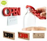『OPEN Bottle Opener』オープン!ボトルを開ける栓抜きです!(マグネット付)