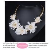 2017 S/S Flower Motif Necklace