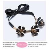 2017 S/S Flower Motif Solid Design Necklace