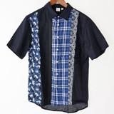 【2017年春夏新作】メンズ 前身切替え半袖シャツ<日本製>