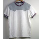 【2017年春夏新作】メンズ ヨーク配色切替え半袖Tシャツ<日本製>